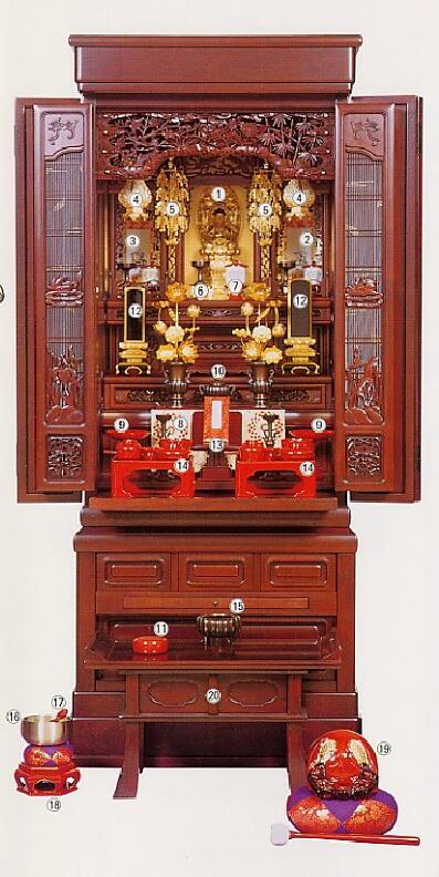 天台宗のお仏壇 天台宗のお仏壇と飾り方 - 仏壇・仏具・神棚の販売・通販-お仏壇のよねはら 天台